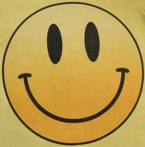 BELLA CANVAS Happy Face T Shirt M Yellow Old School Retro Smiley Face Emoji Top