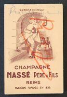 Ancien carnet Publicité CHAMPAGNE Massé Père & Fils REIMS