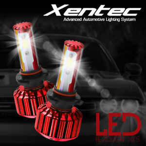 XENTEC COB 60w 9006 LED Headlight Bulbs 6000K White Light Conversion Kit