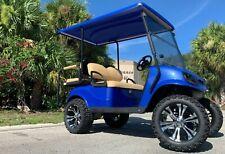 New listing  REFURB blue 2017 ezgo 48v txt 4 seat Passenger golf cart alloy rims lifted FAST