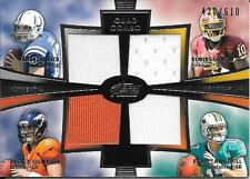 2012 Topps Prime A Luck R Griffin III B Osweiler Tannehill Quad Jersey #430/610