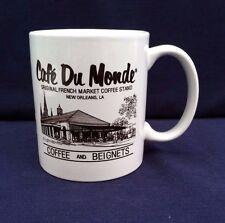 Cafe' Du Monde' Coffee Mug Original French Market Coffee Stand New Orleans LA