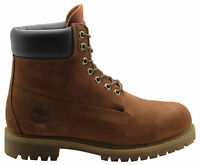 Timberland 6 Inch Premium Mens Boots Rust Brown Leather Lace Up Casual 6768R D40