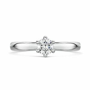Beautiful 0.35 Ct Natural Diamond Wedding Ring Solid 18K White Gold Size N M P Q