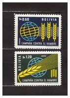 37159 Bolivia 1963 MNH Freedom From Hunger 2v