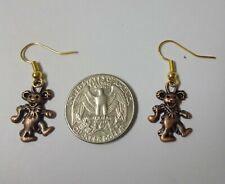 in Bronze Usa Seller Grateful Dead Bear Earrings