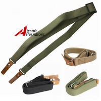 Canvas Adjustable Tactical 2 Two Point Heavy Duty AK Shotgun Rifle Sling Strap