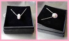 Collana donna Marlù acciaio color argento ciondolo tondo pietre rosa e smalto