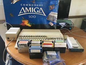 Commodore Amiga 500 Computer w/ RAM Expansion,PSU Mouse,Original Box Lots More!