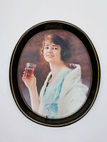 Vintage 1973 Reproduction of 1923 Coca-Cola Flapper Girl Serving Tray 15x12x2