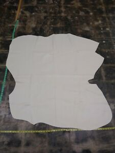 Italian Cowhide leather Skin Hide  CREAM COW GROSSE VACHE 44 by 44 Inches 4 oz