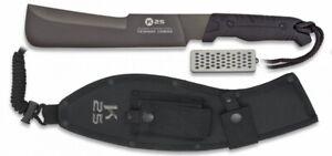 Grosses Messer Machete RUI / K25 Funda 31829 + Nylonscheide + Schleifstein Jagd