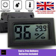 Digital Hygrometer & Thermometer Humidity Reptile Gecko Snake Lizard Vivarium UK