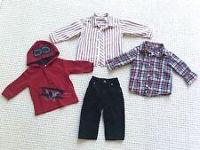 Lot 4 toddler boy shirts & pants red white black Christmas Gymboree Gap 12-18 mo