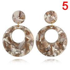 Women's Round Acrylic Dangle Drop Earrings Geometric Ear Stud Earring Jewelry jc