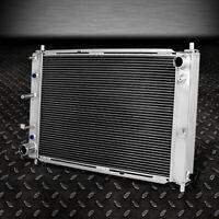 """3-ROW ALUMINUM RADIATOR+2X 12/""""FAN BLACK FOR 79-93 FORD MUSTANG V8//V6 LX//GT//COBRA"""