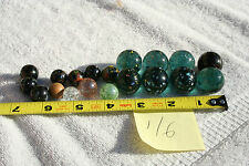 Vintage  RARE Glass Marble . Lot of 19. Mixed color ,mixed size.