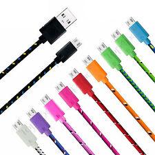CHARGEUR MICRO USB CABLE UNIVERSEL ANDROID POUR PS4 DATA RENFORCÉ LOT 1m 2m 3m
