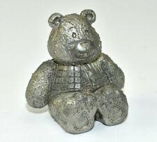 Vintage Pewter Animal Figurines Teddy Bear Theodore Bear