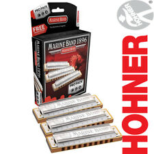 NEW Hohner Marine Band Harmonica Pro Pack Keys of C, G, A