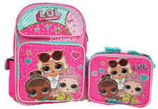 "L.O.L SURPRISE! Large 16"" Backpack & Lunch bag 2 pc  LOL Pink Backpack New"