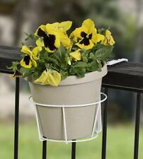 "Panacea 89047 Adjustable Steel Flower Pot Holder 2"" x 4"", White"
