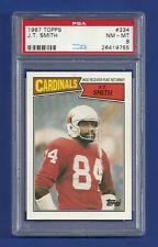 1987 TOPPS #334 J.T. SMITH PSA 8 NM-MINT POP 1 ST LOUIS CARDINALS