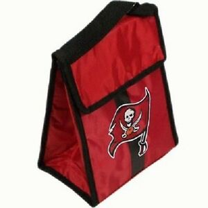 """Tampa Bay Buccaneers Insulated Lunch Bag/Box Cooler Team Logo NEW 9"""" x 7"""" x 4.5"""""""