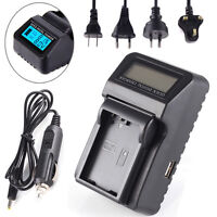AC/DC/Car LCD Battery Charger For Nikon EN-EL14 EN-EL14a MH-24 D3200 D3300 D5100