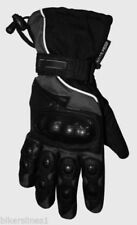 Guantes negros de nailon de nudillos para motoristas