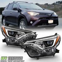 For 2016 2017 2018 Toyota RAV4 Bi-LED w/LED DRL Projector Headlights Headlamps