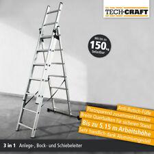 Mehrzweckleiter Klapp Leiter Alu Anlegeleiter Stehleiter 430 cm Tragkraft:150 kg