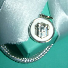 TIFFANY TIFFANY & CO. STERLING SILVER GIFT BOX PENDANT NEW IN STORED CONDITION
