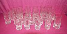 Lotto 23 bicchieri di cristallo vari formati Set crystal glasses V2