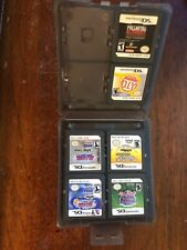 LOT OF 6 NINTENDO DS GAMES & CASE Fullmetal Alchemist DIY SPORTS BLEACH TECMO