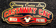Disney 2001 Castaway Cay Beach Patrol Cruise Line Pin DCL