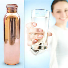 Copper Water Bottle 650ml Handmade India Ayurveda Yoga Health Benefit Joint Free