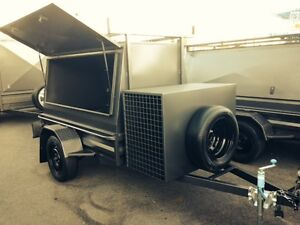 NEW H/DUTY STANDARD  BUILDERS TRAILER / LADDER RACK CAGED - OPTIONS AVAILABLE
