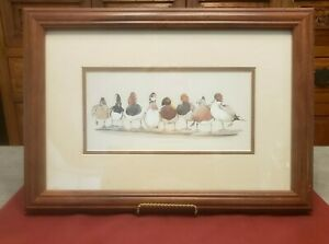 "VTG Print by Art La May Art Print ""All American Boys"" Birds Duck ~ Framed Matted"