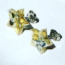 Star studs - acrylic star studs - glitter star earrings - gold and silver