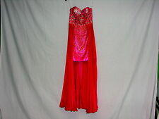 Sherri Hill High-Low Cocktail Dress Coral Size 4 (Size 2) Red