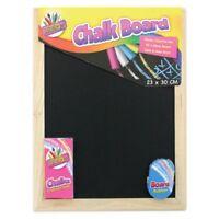 Childrens Kids Chalkboard Chalk & Board Rubber 23x30cm