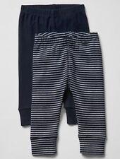 GAP Baby / Toddler Boys Size 12-18 Months 2-Pack Blue Cotton Knit Leggings Pants