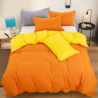 Soft Reversible 1000TC Quilt Duvet Doona Cover Set Double/Queen/King Size Bed
