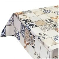 Tovaglia cucina ANTIMACCHIA maiolica copri tavolo plastificata cerata più misure