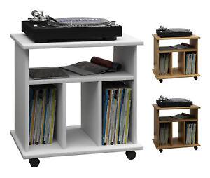 VCM LP-Möbel Regal Schallplatten Phonomöbel Medienregal Schallplattenspieler