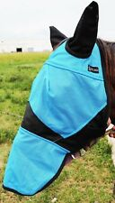 Equine Horse Fly Mask Summer Spring Airflow Mesh UV Mosquitoes Turquoise 73248