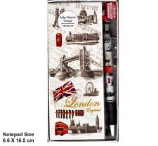 London Tower Bridge Diseño FRIDGE MAGNET memo pad bloc de notas con encanto de pluma