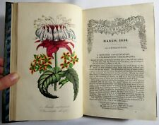 1852 THE FLORICULTURAL CABINET Botany HAND COLORED FLOWER PLATES Natural History