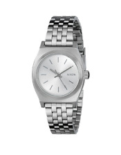 New Nixon Small Time Teller All Silver Stainless Steel A3991920 Women's Watch